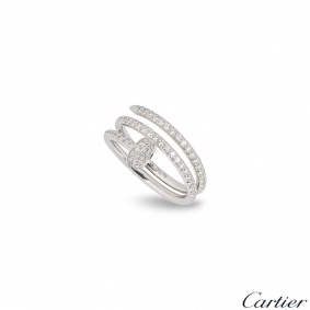 Cartier White Gold Diamond Juste Un Clou Ring B4211100